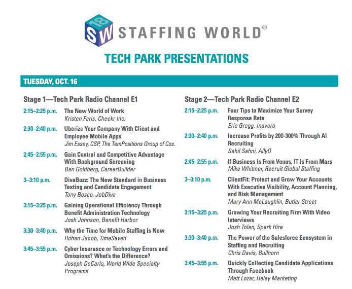 TechPark Schedule