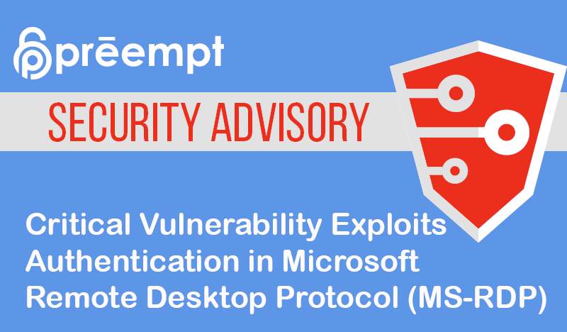 Security Advisory: Critical Vulnerability in CredSSP Allows