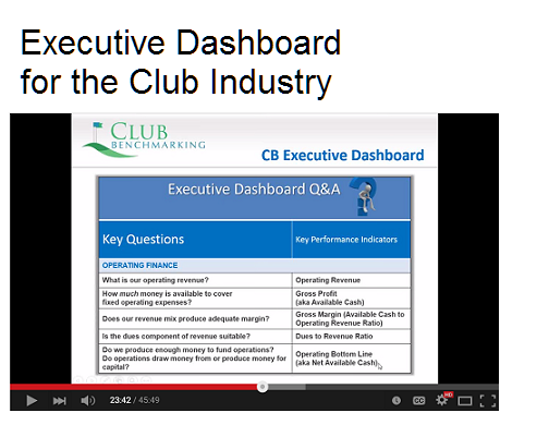 Executive Dashboard for Clubs