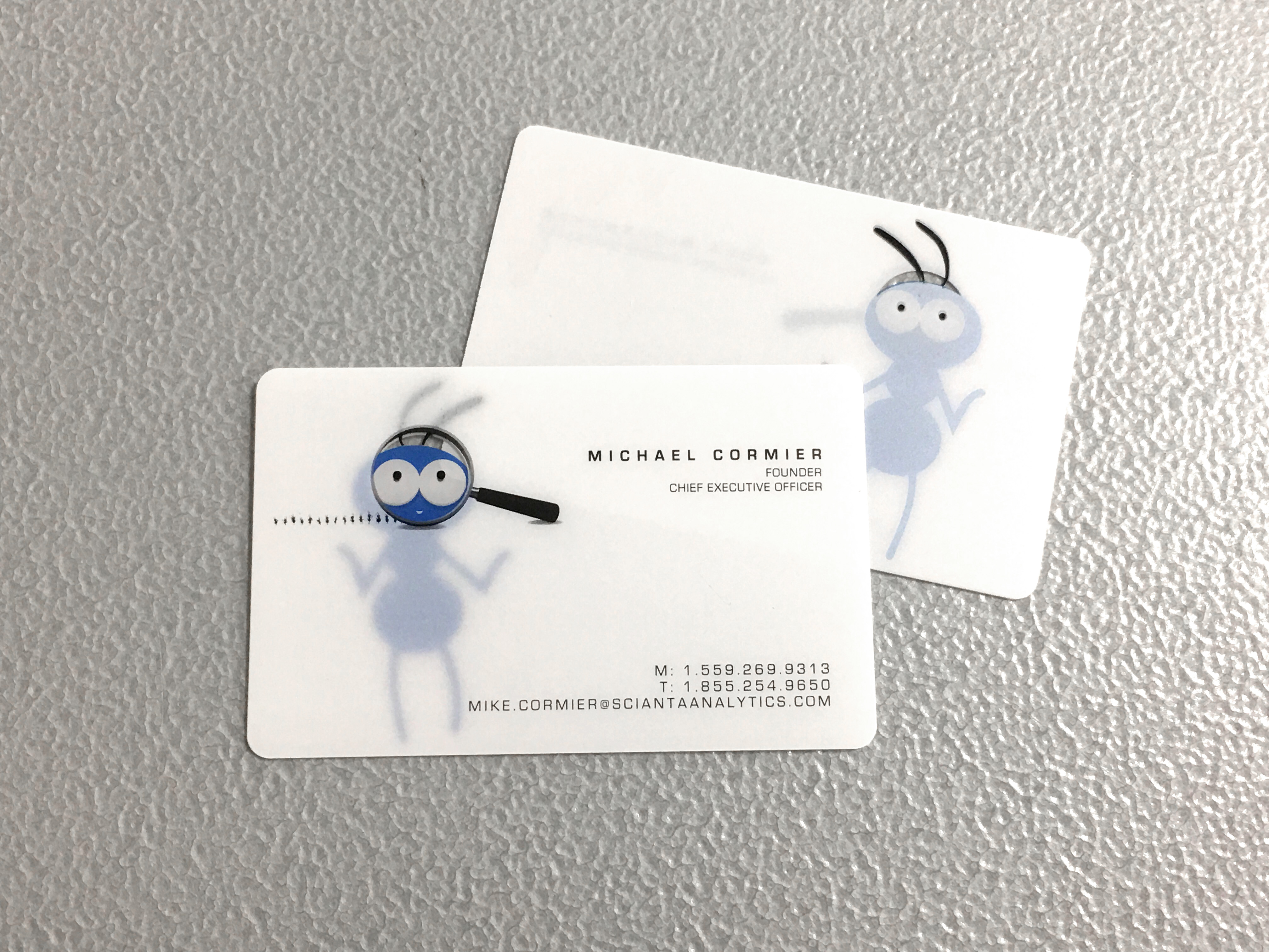 Clear Business Cards Sample Request | Plastic Printers, Inc.