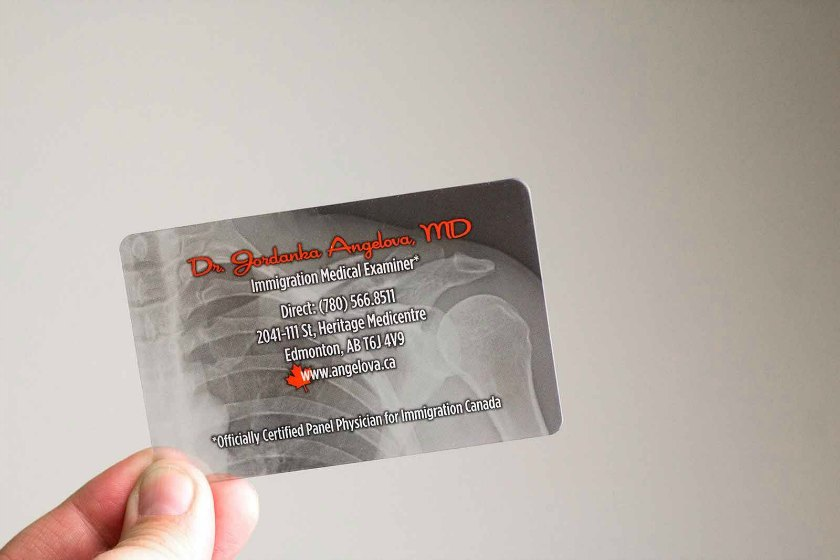 Transparent business cards plastic printers plastic business cards reheart Images