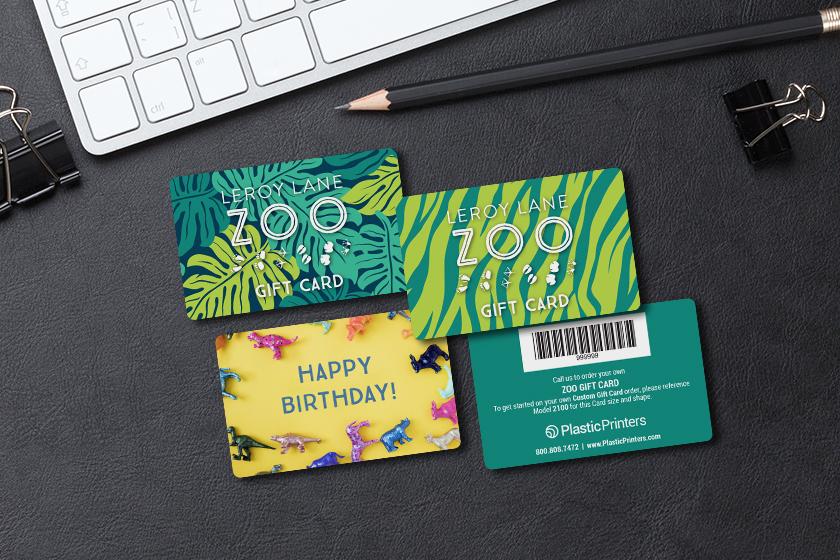Gift Card Inspiration Plastic Printers