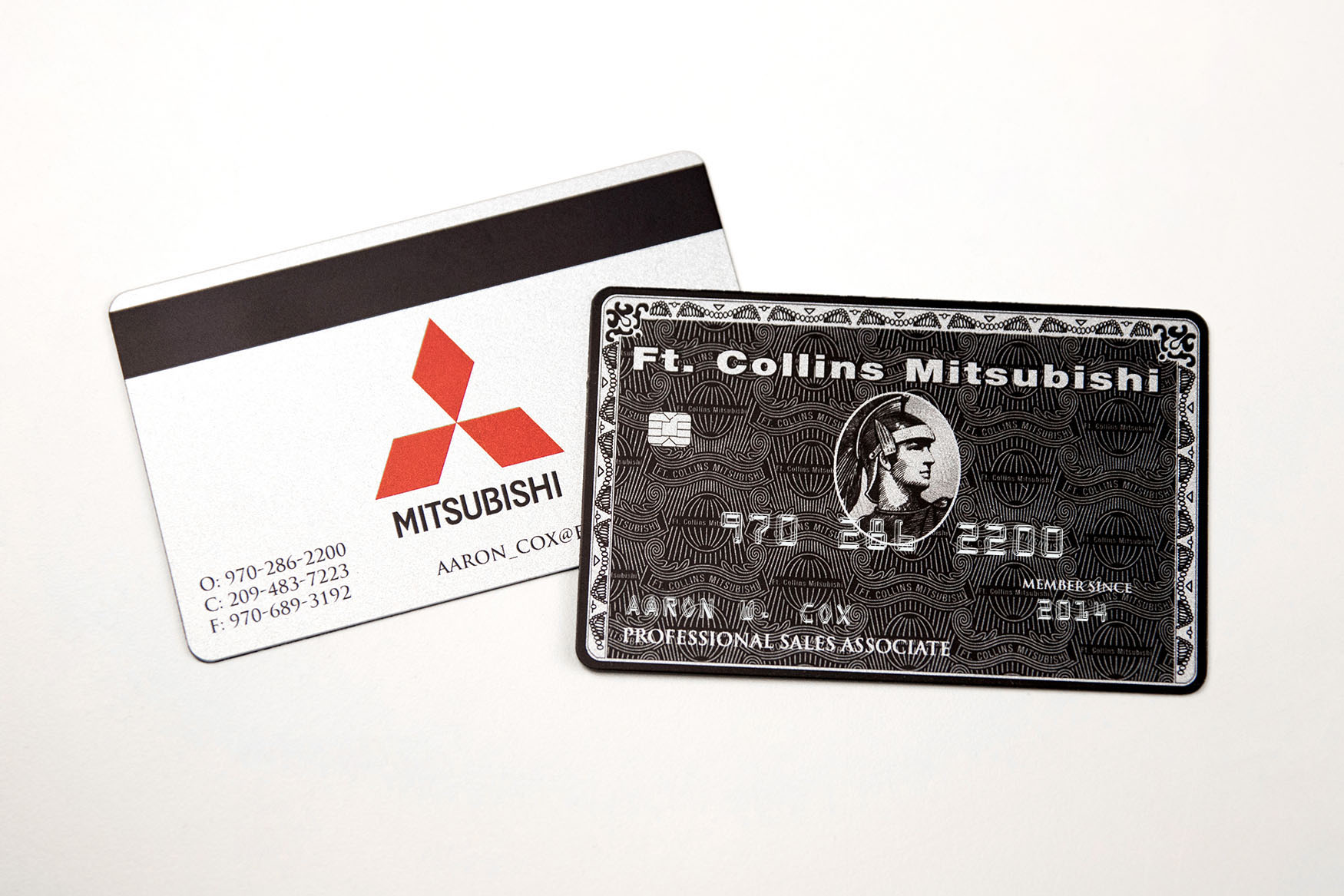 Embossed Business Cards | Plastic Printers, Inc.