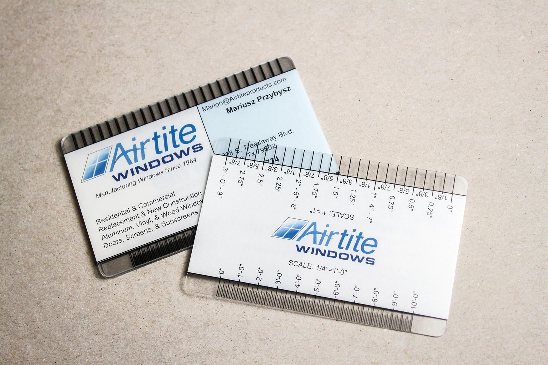 Airtite windows ruler business card colourmoves
