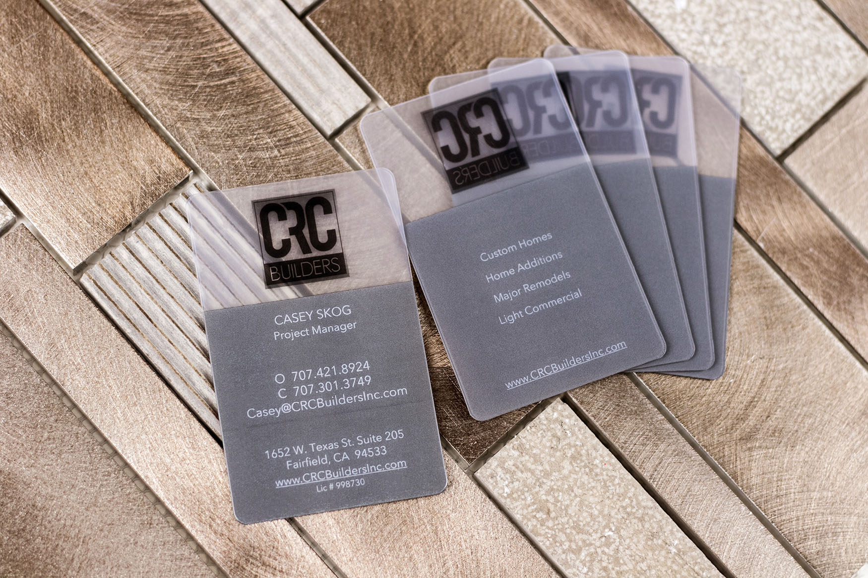 Frosted Business Cards | Plastic Printers, Inc.