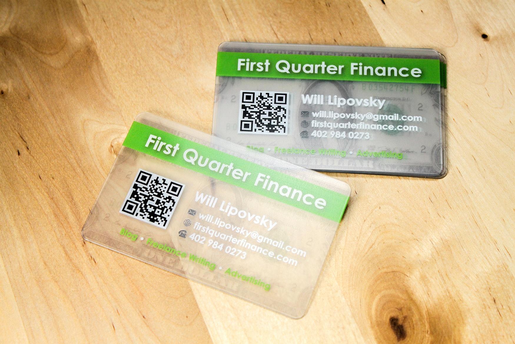 First Quarter Finance Business Cards