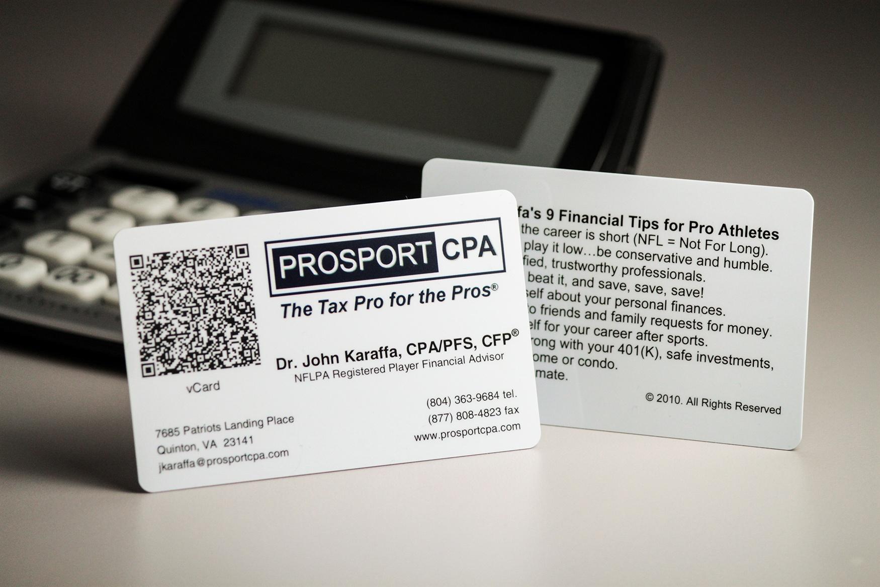 ProSport CPA Business Card