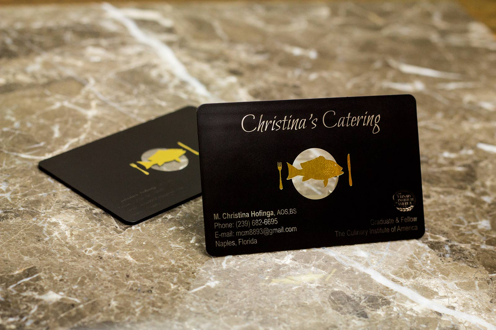 Christina\'s Catering Business Card