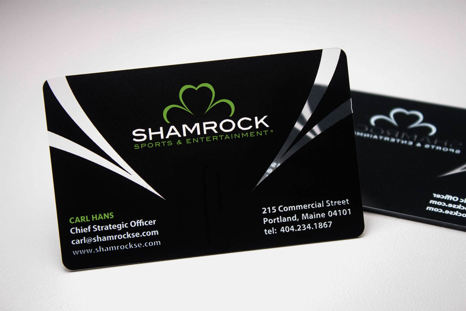 Shamrock Sports & Entertainment Business Cards