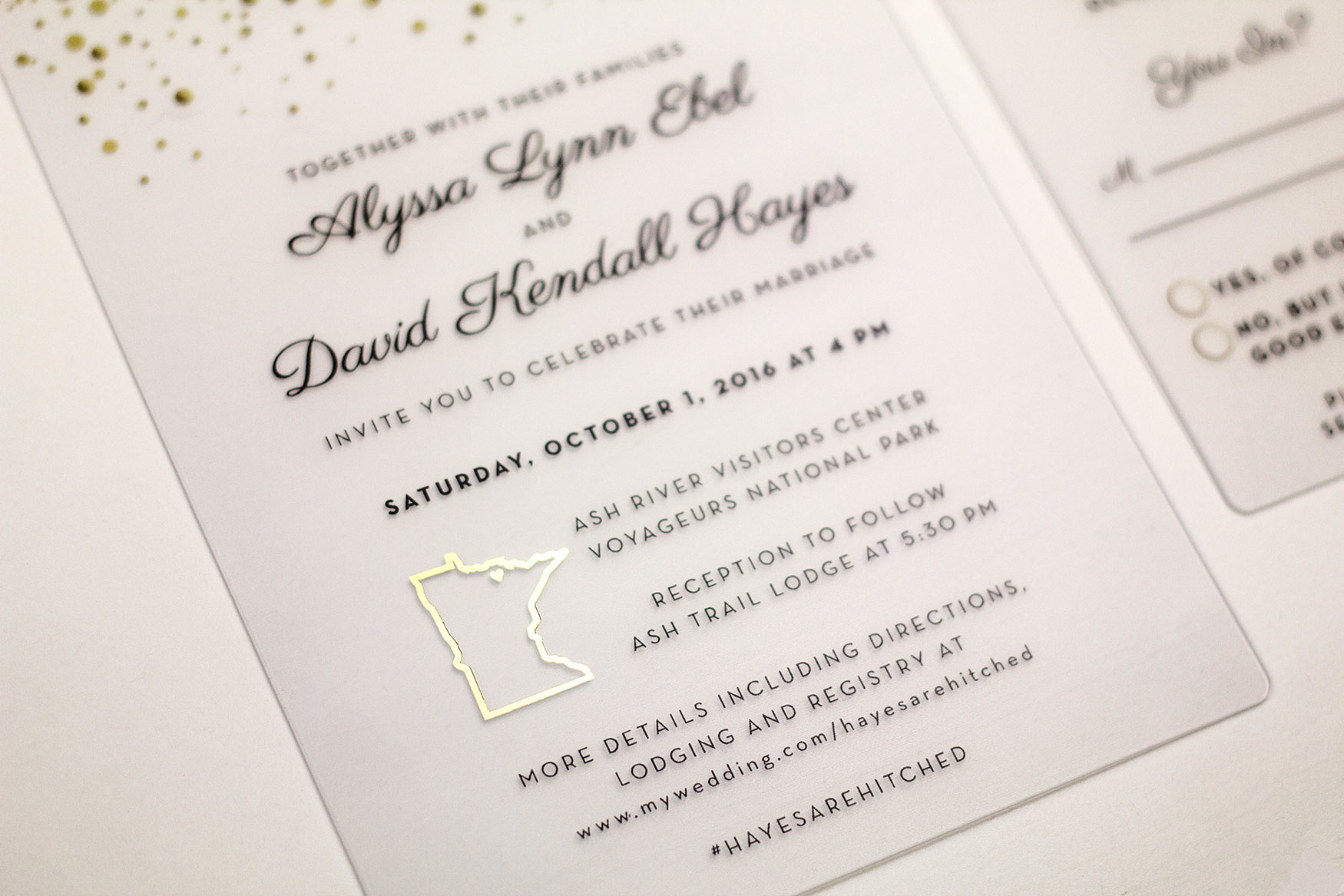 Elegant Wedding Invitations | LiveLoveLast by PlasticPrinters.com