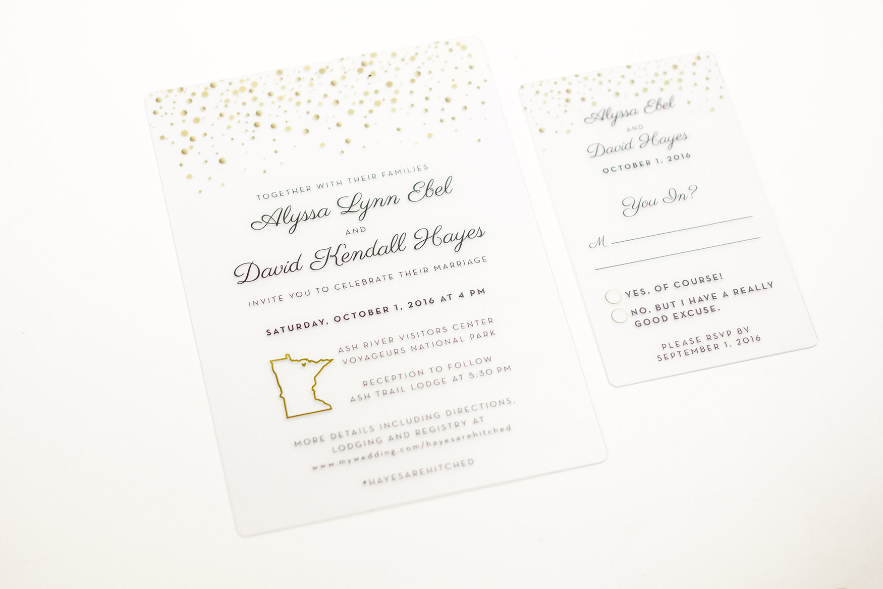 Unique Wedding Invitations | LiveLoveLast by PlasticPrinters.com