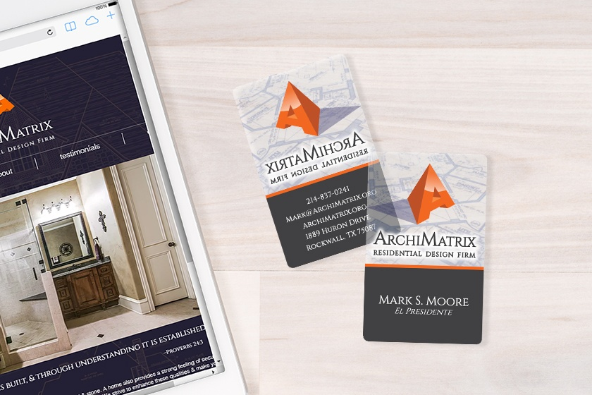 Archimatrix frosted satin business cards reheart Choice Image