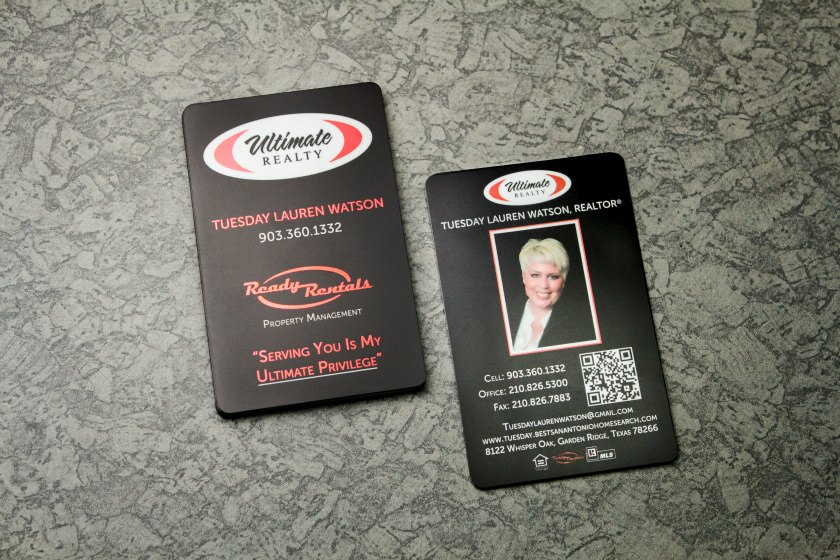 Real estate business cards plastic printers real estate business cards vertical business cards reheart Images