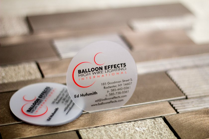 Circle business cards are a unique way to market your business frosted circle business card reheart Choice Image