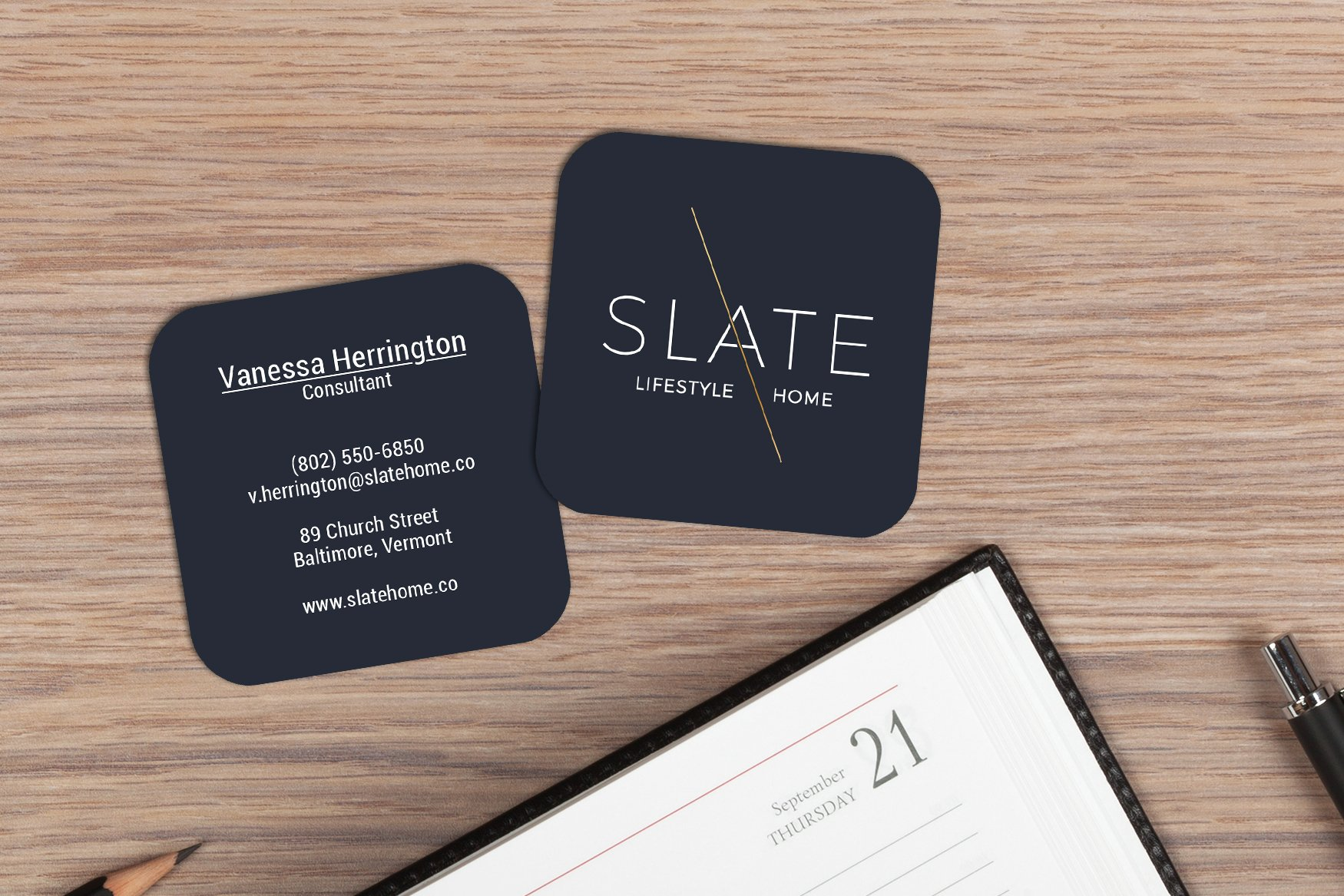 Square Business Cards Plastic Printers