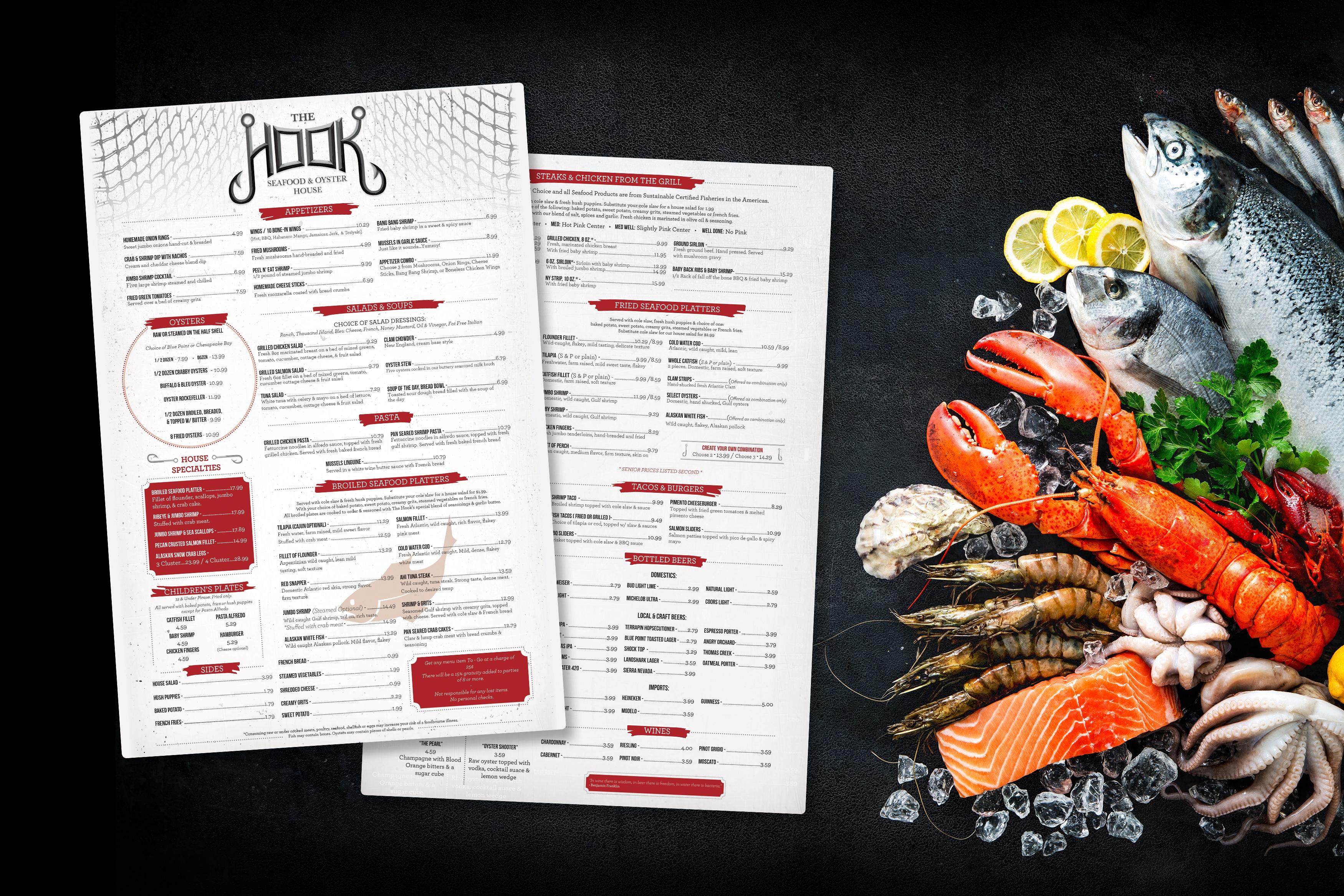 menu printing & design | plastic printers