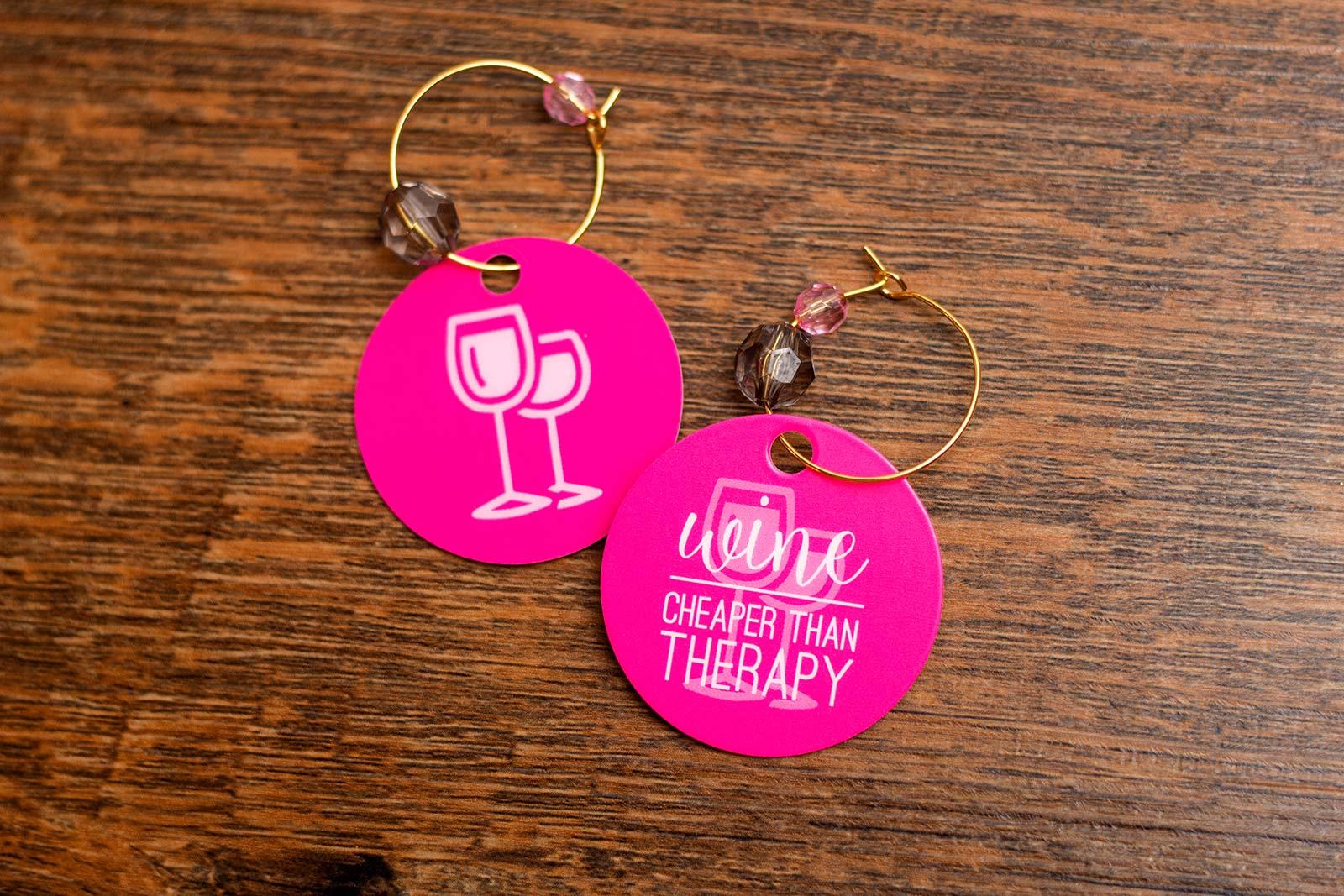 wedding shower wine charms