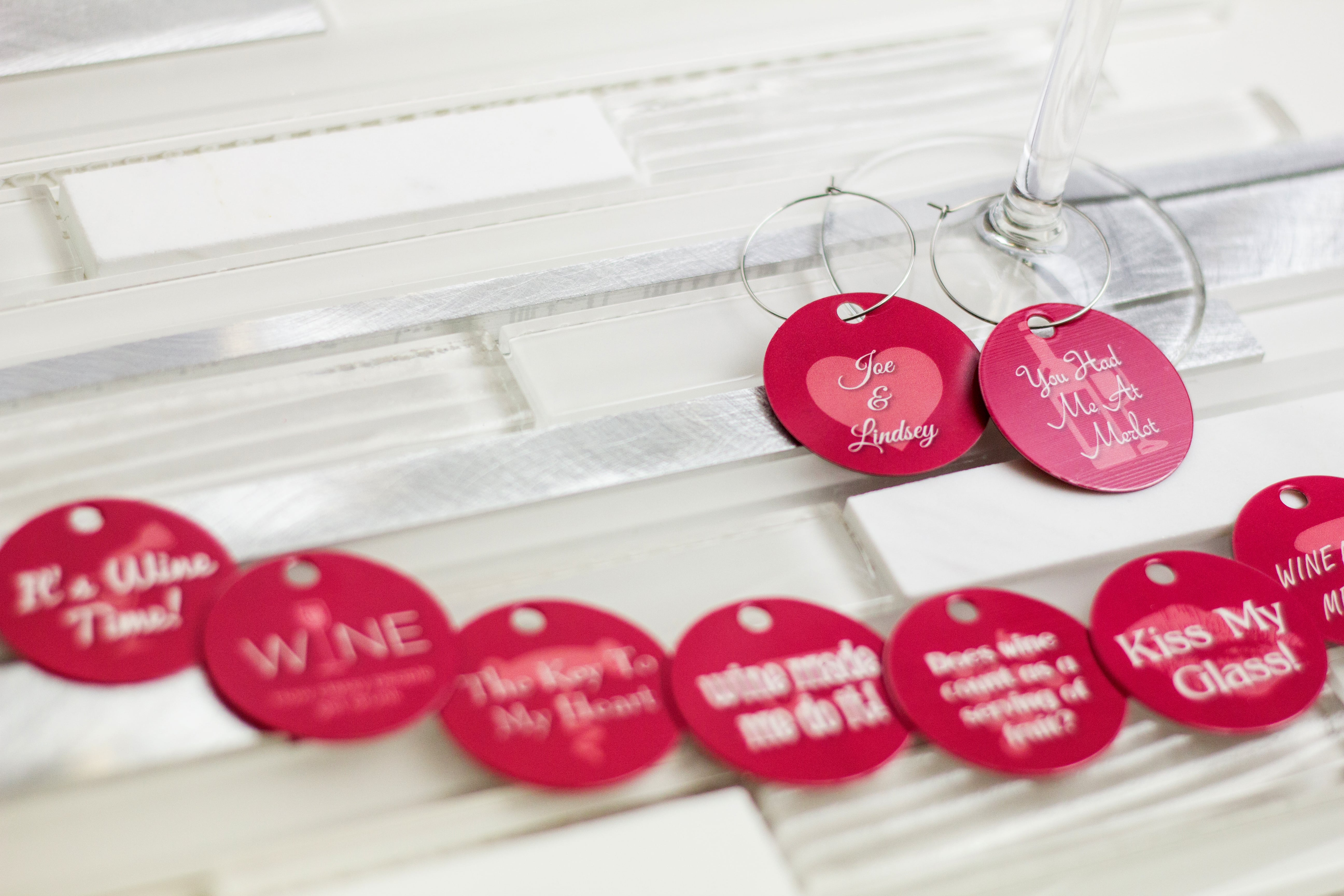 Custom Wine Charms | Plastic Printers, Inc.