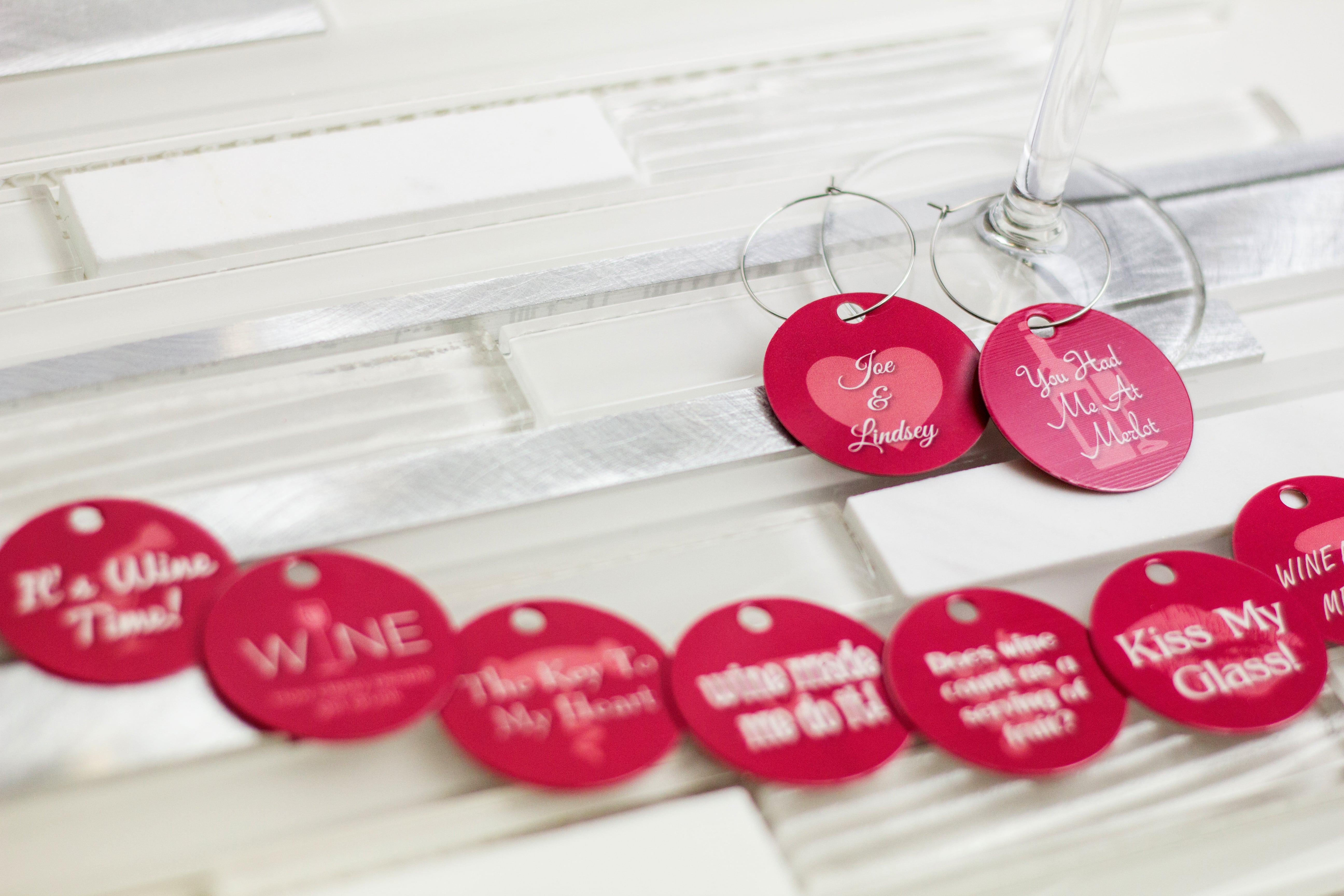 Custom Wine Charms   Plastic Printers, Inc.