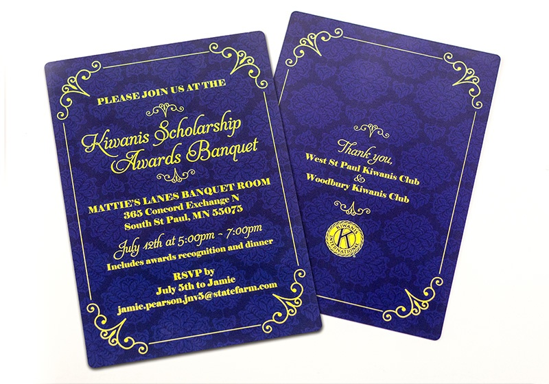 kiwanis awards banquet invitation - Corporate Holiday Cards