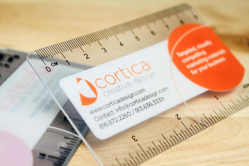 Amazing business cards plastic printers inc ruler business cards accmission Images