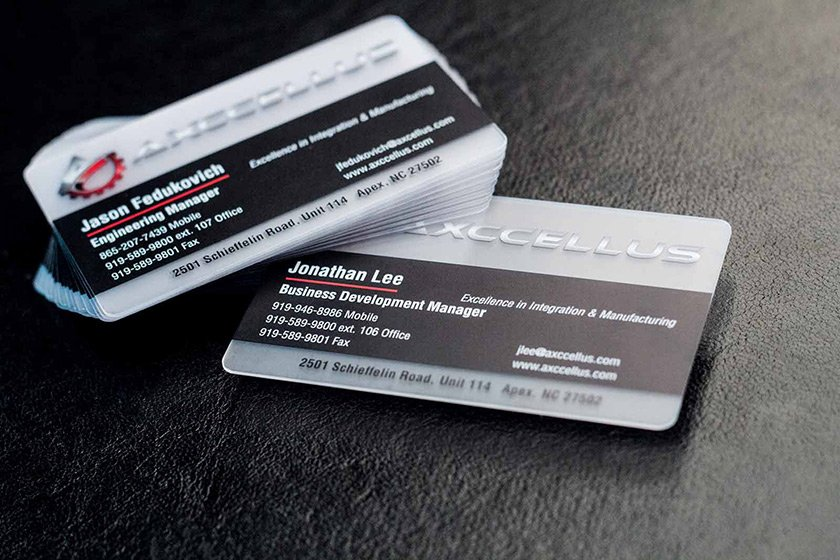 Amazing business cards plastic printers inc premium satin frosted business cards colourmoves