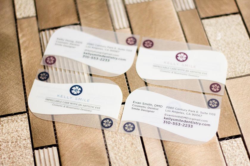 Custom die cut business cards plastic printers inc unique custom shapes reheart Choice Image