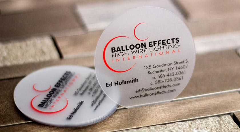 round business cards