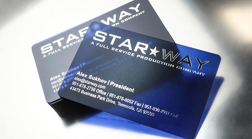 Custom Business Card Design By Plastic Printers Inc