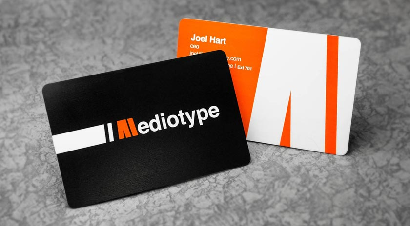 Plastic business cards printed by plastic printers inc double sided business card example colourmoves