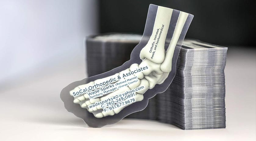 Custom shapes die cut business cards plastic printers inc transparent x ray business cards reheart Image collections
