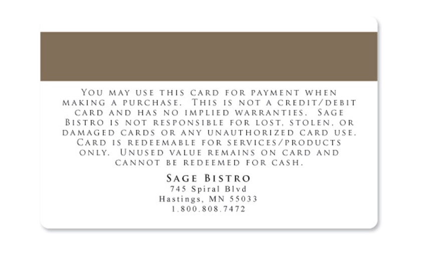 Gift Card Terms and Conditions Samples – Sample Membership Card