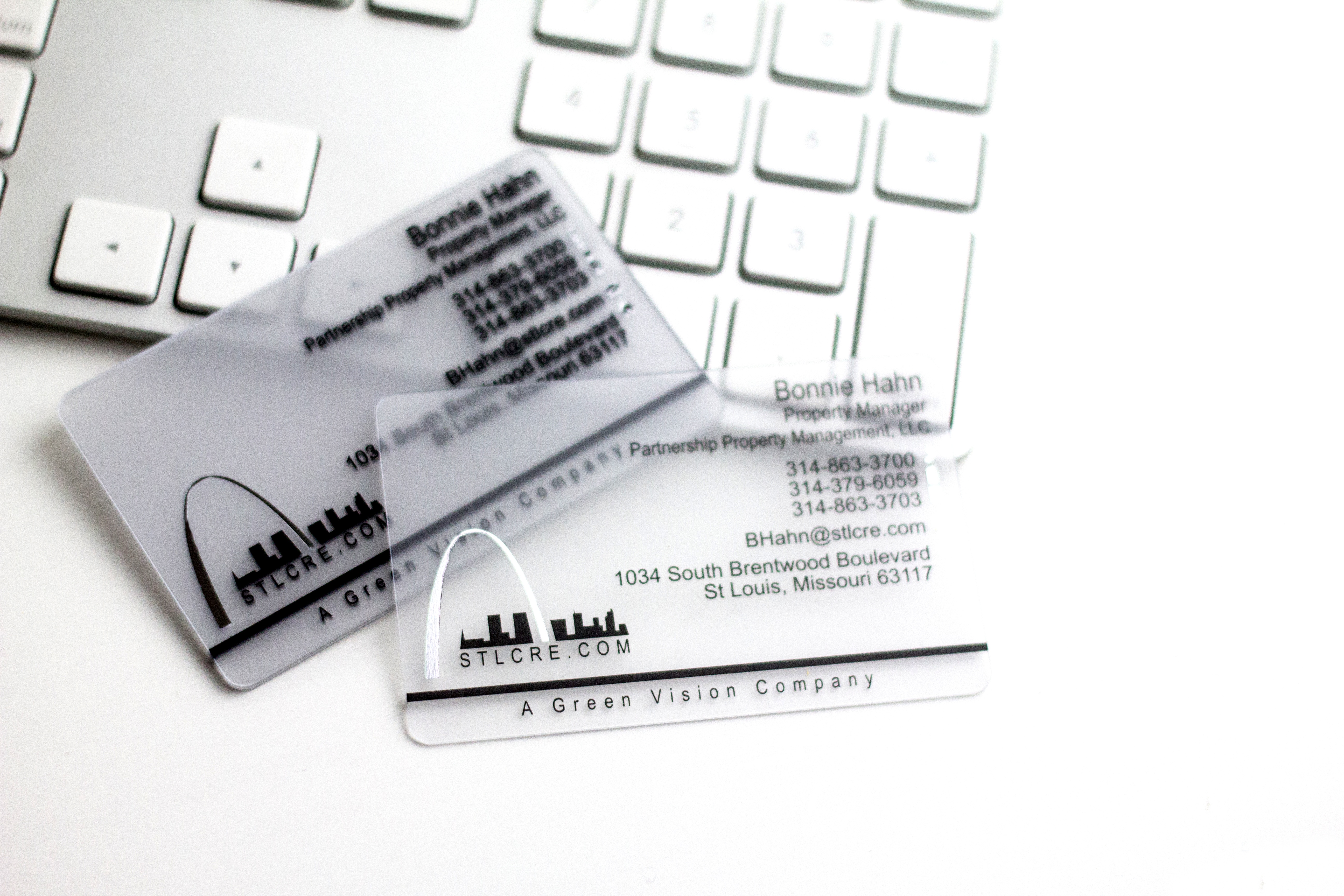 Frosted Business Cards | Custom Plastic Cards from Plastic Printers