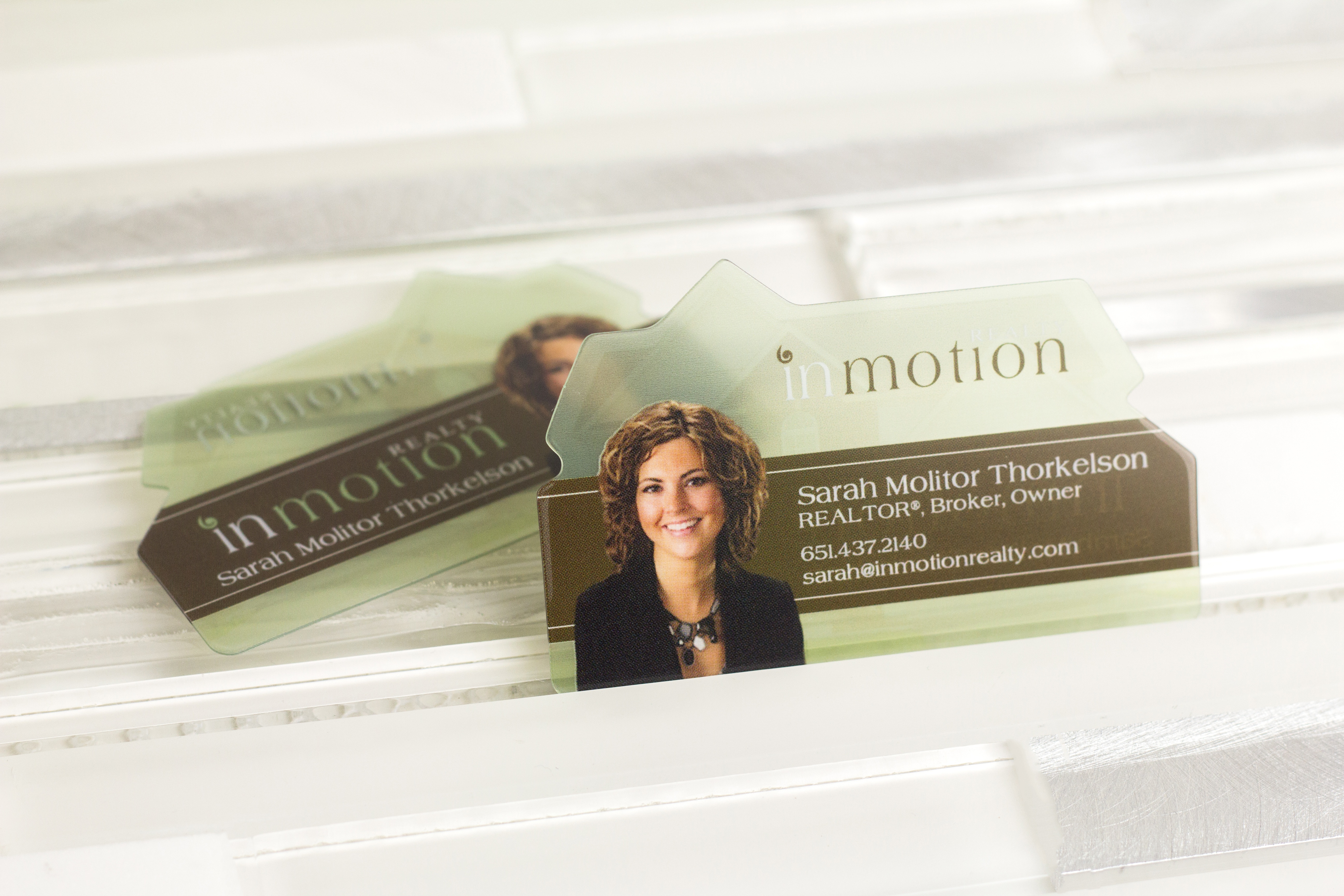 Frosted business cards custom plastic cards from plastic printers real estate business cards reheart Images