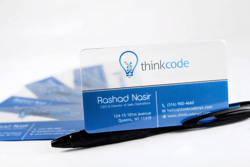 Clear Business Cards   Plastic Printers, Inc.