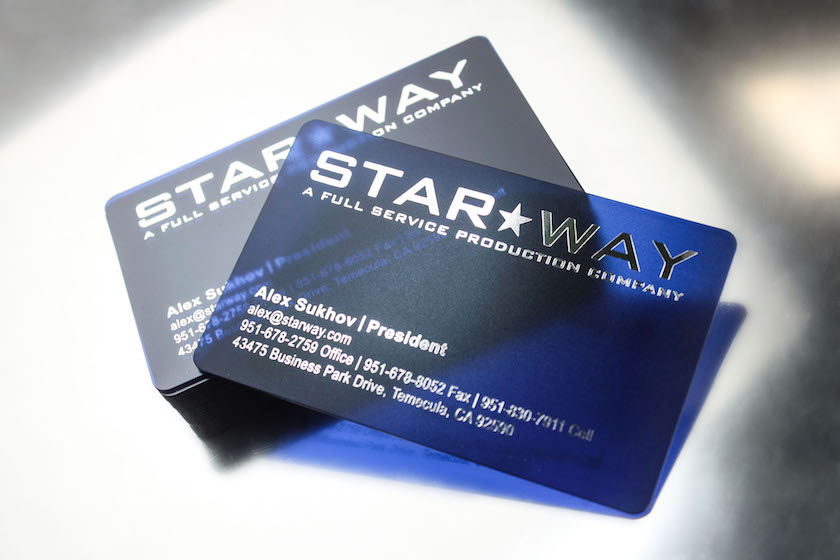 frosted plastic business cards - Clear Business Cards