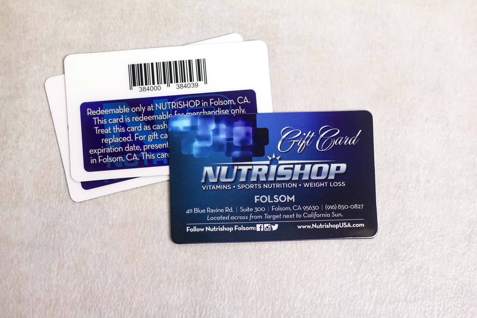 Custom gift cards for your lightspeed pos plastic printers small business gift cards colourmoves Choice Image