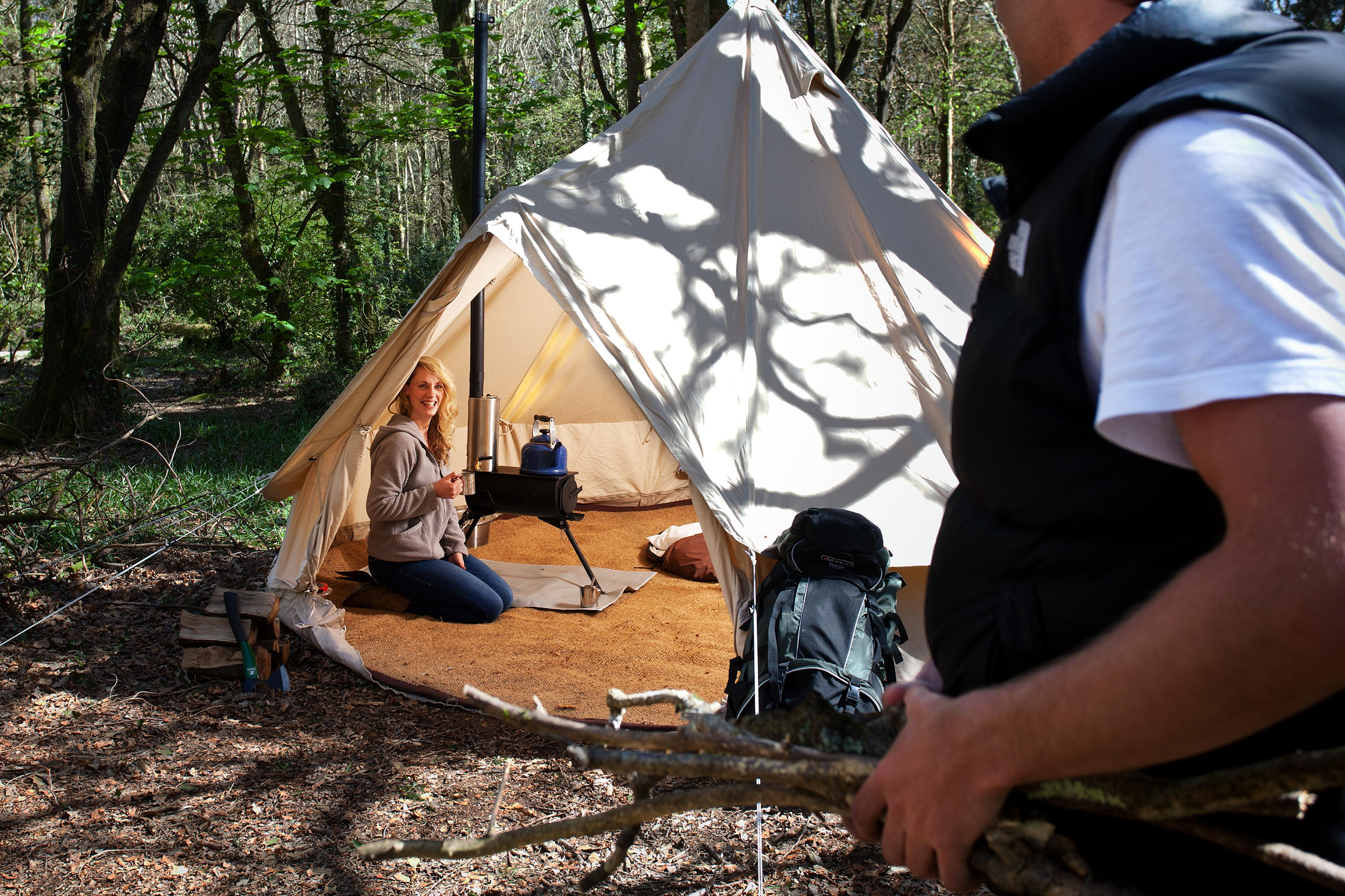Frontier stove in a bell tent & Winter camping- love the outdoors but hate being cold? We can help.
