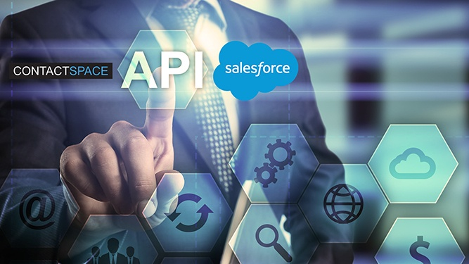 What are some of the benefits of integrating Salesforce with contactSPACE?