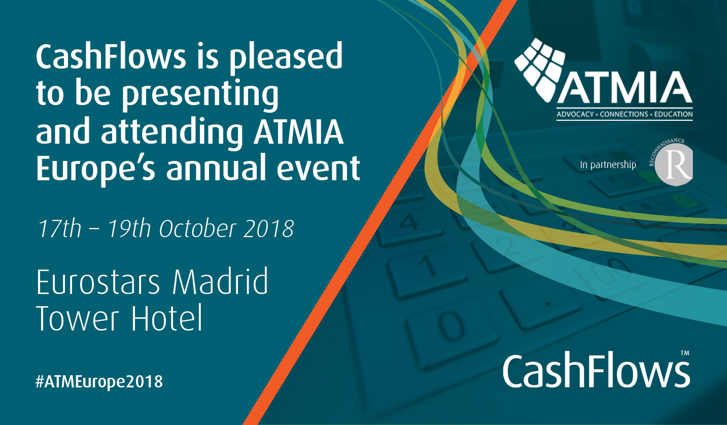 CashFlows: Pleased to be attending ATMIA 2018