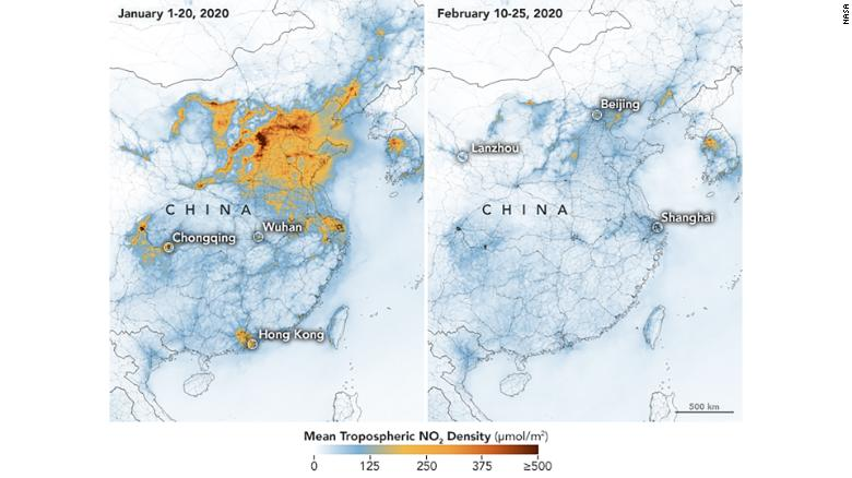 NASA pollution Image China