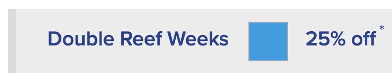 Double Reef Weeks (Light Blue) - 25% off
