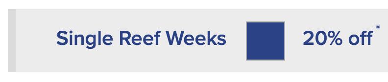 Single Reef Weeks (Dark Blue) - 20% off