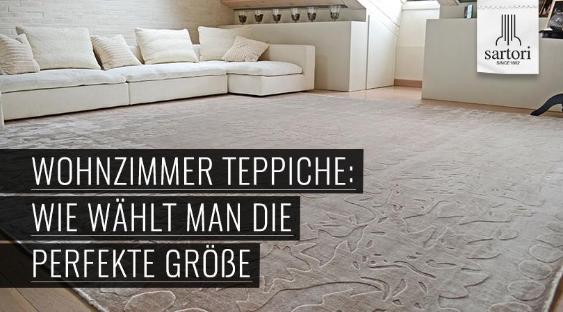 Teppich wohnzimmer  Wohnzimmer Teppiche: Wie wählt man die perfekte Größe