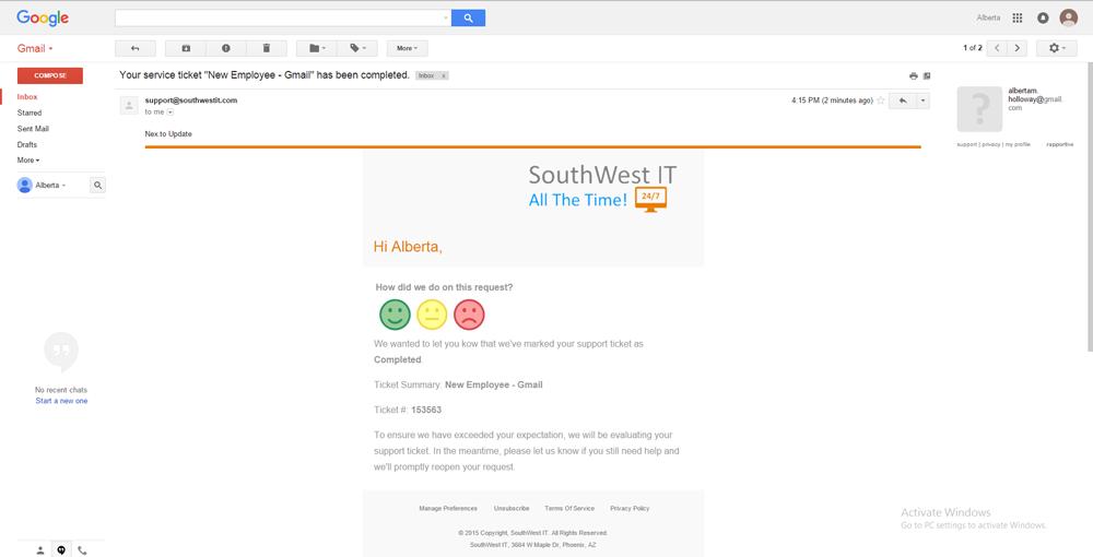 CSAT Survey Email