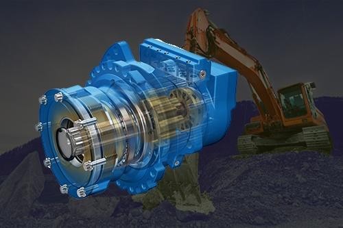 Eaton jmv series track drive motors for Hydraulic track drive motor