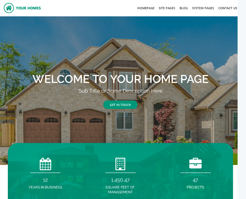 Real Estate Multipurpose website template