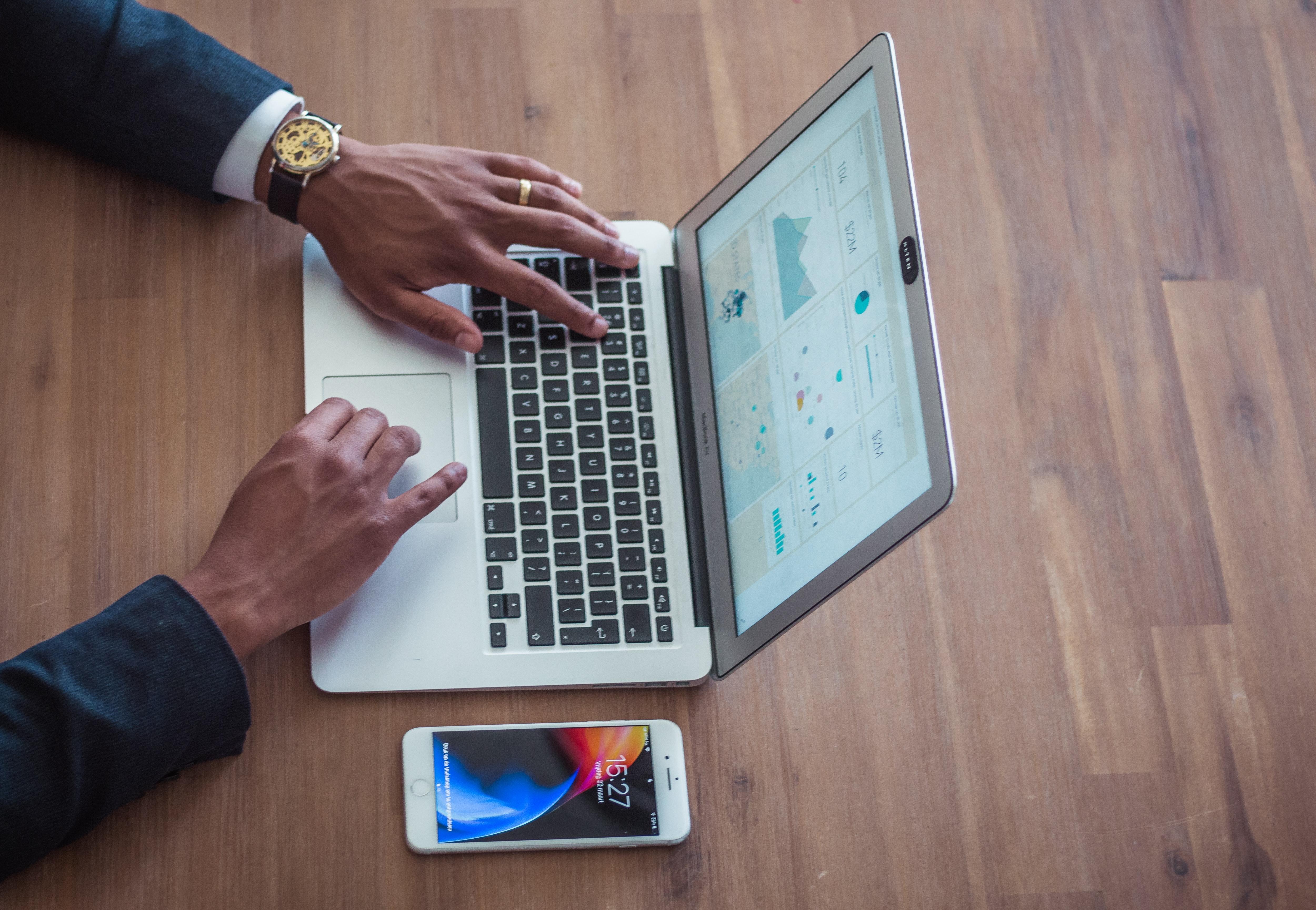 Person Using a macbook air-1
