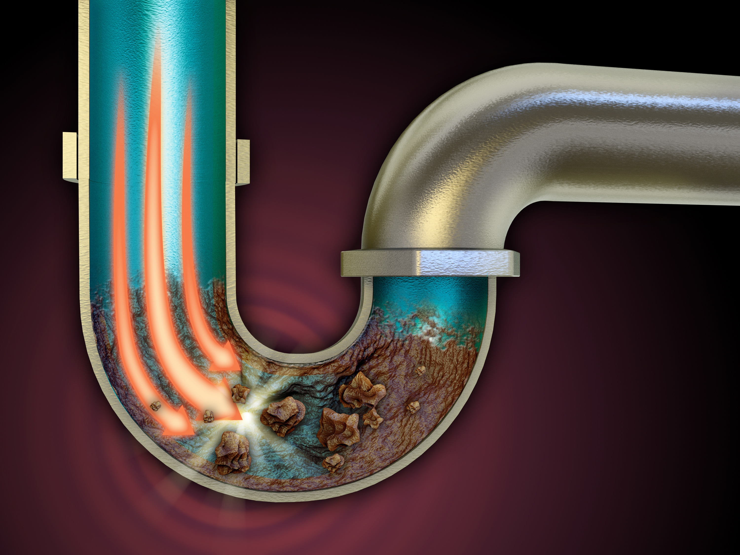 Drain clog in P-Trap - shows how to unclog a drain in sink