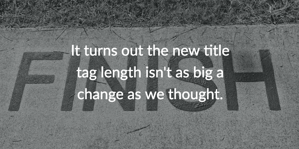 Study: Title tag length isn't changing that much, actually. Cover Photo